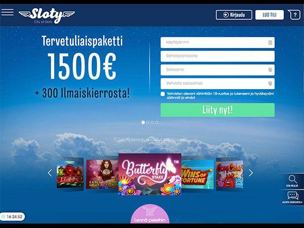 Lue Sloty Casino arvostelu & kokemuksia ja nappaa 1500€ Bonus sekä ilmaiskierrokset!