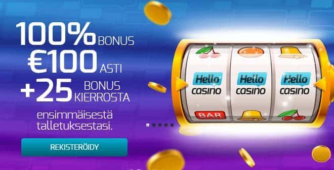Hello casino bonus - Ilmaiskierrokset & talletusbonus